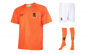 Oranje voetbal outfit
